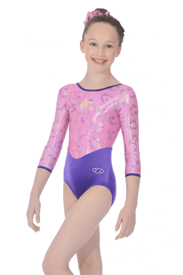 Cupid 3 4 Sleeve Girls  Gymnastics Leotard Nouveau · Justaucorps Cupid  manches ... 6d98363f342