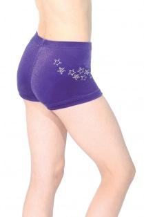 Short taille basse Roxy en velours lisse avec motif en strass étoilé