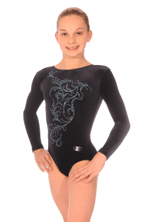 Smooth Velvet Long Sleeve Leotard Motif 10