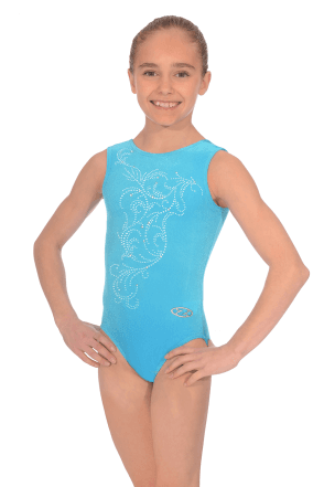 Smooth Velvet Sleeveless Leotard Motif M10
